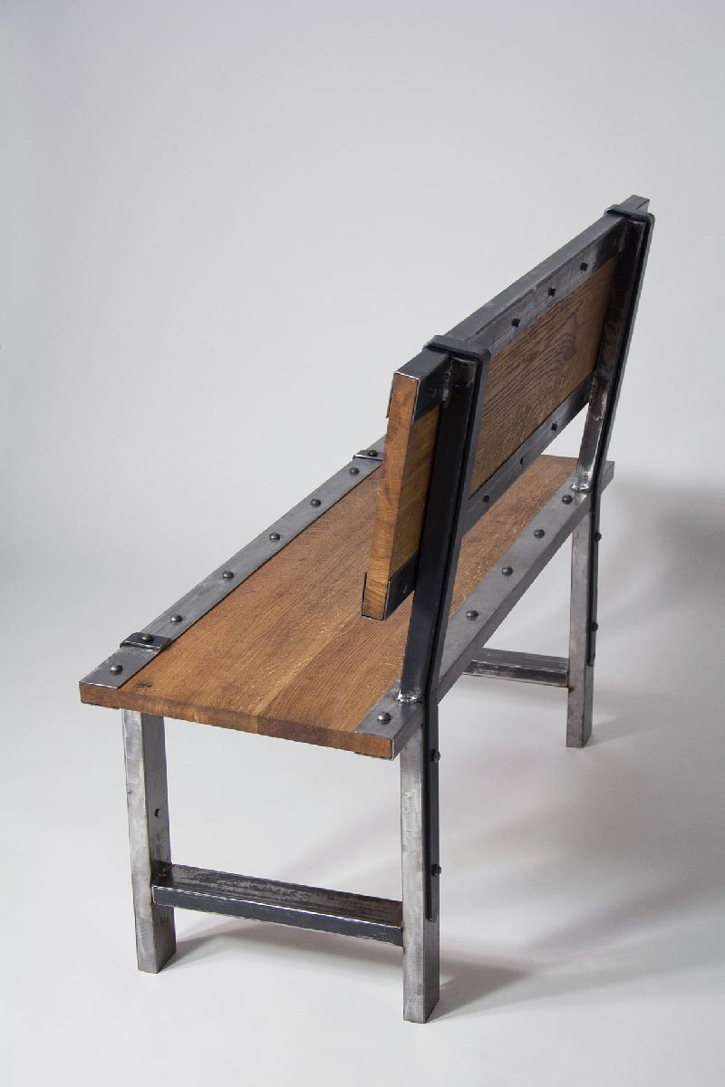 Astonishing Iron Industrial Bench Machost Co Dining Chair Design Ideas Machostcouk
