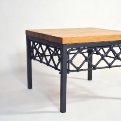 Wrought Iron Coffee Table Zig-Zag