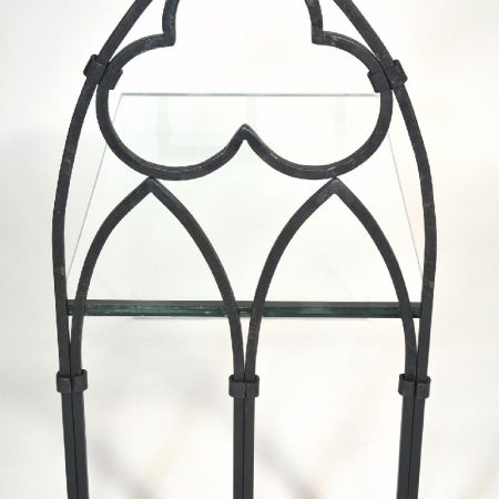 Iron Gothic Table with Glass