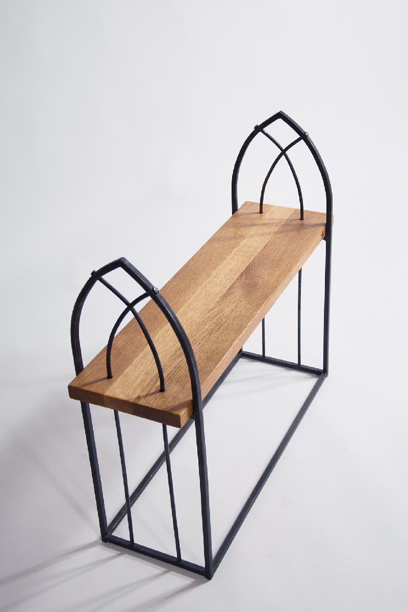 Wrought iron bench gothic creative iron for Iron furniture