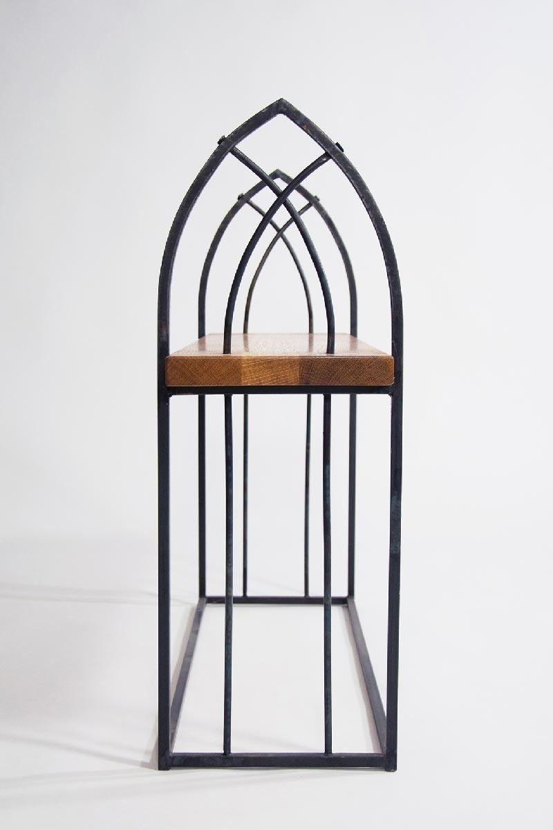 Wrought iron gothic bench creative