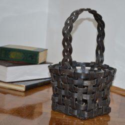 carefully designed wrought iron basket