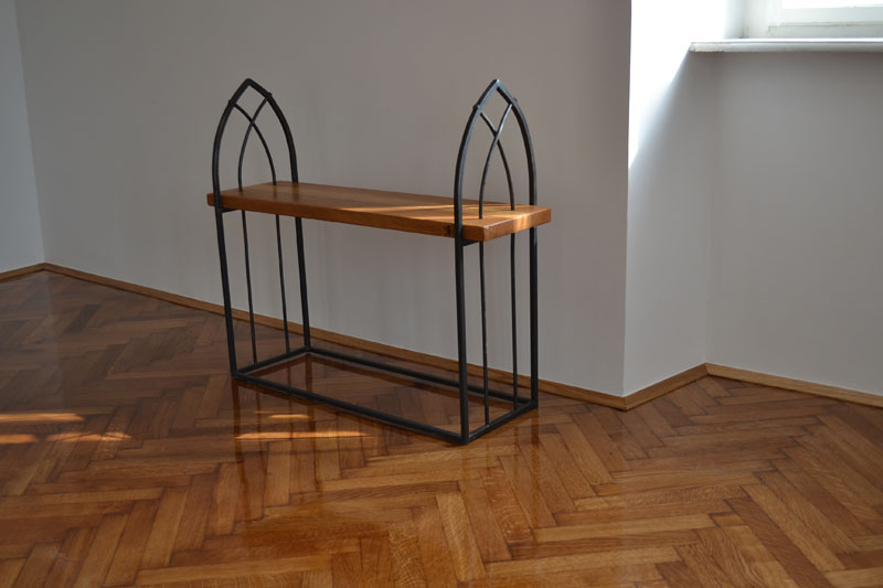 "Wrought Iron Bench ""Gothic"""