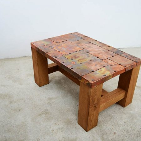 Table with copper plates