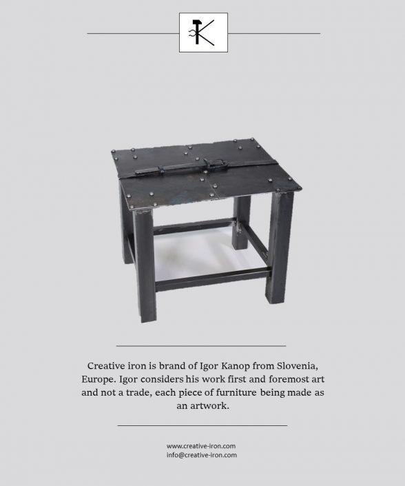 Creative iron publishing in magazine